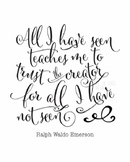Christian quote poster | Ralph Waldo Emerson quote printab