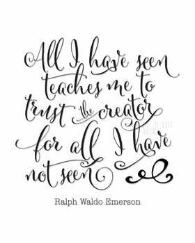 Christian quote poster | Ralph Waldo Emerson quote printab