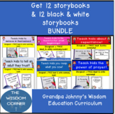 12 Christian storybooks & coloring book bundle (no lesson plans included)