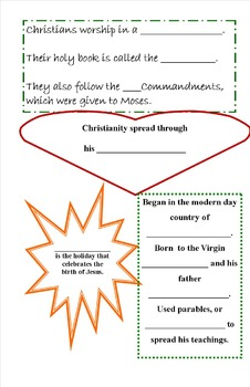 Religion: Christianity Booklet