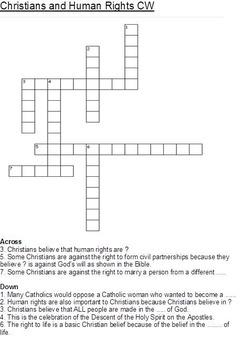 Christianity (Christian) Crosswords for Religious Studies Pack of 8