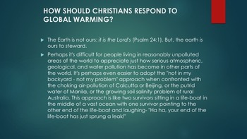 Christianity Environmental Ethics