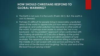 Christianity Environmental Ethics