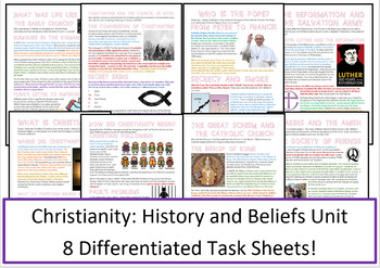 Christianity: History and Beliefs Activities / Worksheets
