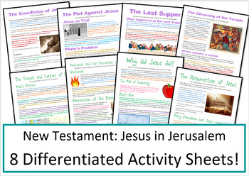 Christianity: Jesus in Jerusalem: Activities and Worksheets
