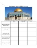 Christianity, Judaism & Islam - Comparison Grid & Vocab List
