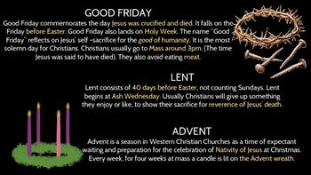 Christianity  People, Holidays, Rites of Passage