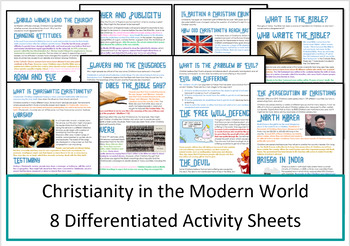 Christianity: Practices in the Modern World - Activities/ Worksheets
