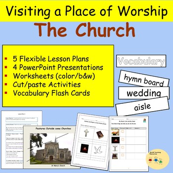 Church Visiting a Place of Worship Worksheets PPT Lesson Plans Christianity