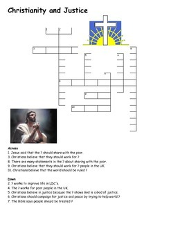 Christianity and Justice Crossword