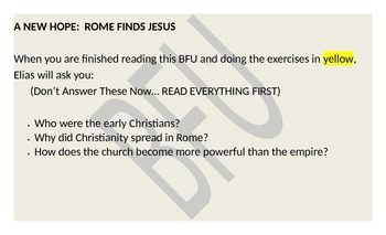 Christianity and Rome: Origins of Christianity (Reading &
