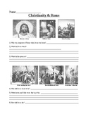 Christianity and Rome Powerpoint Worksheet