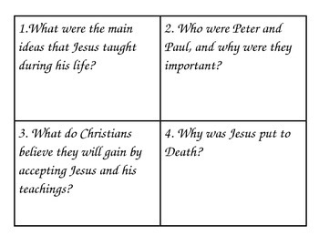 Christianity four square question