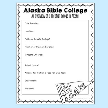 Christianity in ALASKA Notebook Journal Project, Christian School Resources