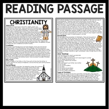 Christianity overview article and questions, world religions