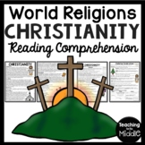 Christianity Reading Comprehension Worksheet World Religions