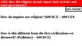 Christianity vs. Buddhism-Spread of Religions