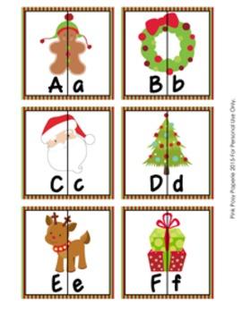 Christimas Letter Match Puzzles