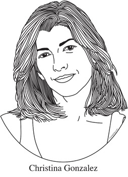 Christina Gonzalez Realistic Clip Art, Coloring Page, and Poster