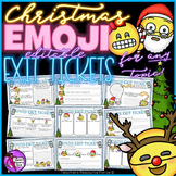 Christmas Emoji Exit Tickets - Editable (color & black and white included)