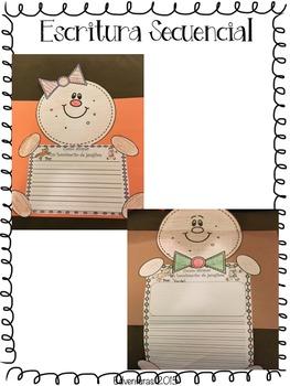 Christmas / Navidad - 4 Writing Craftivities Bundle - Spanish
