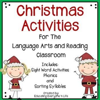 Christmas Language Arts