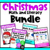 Christmas Math and Christmas Literacy Activities Bundle, Christmas Worksheets