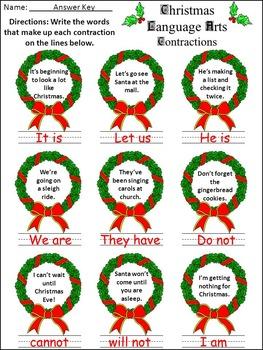 Christmas Activities: Christmas Language Arts Activity Packet