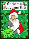 Christmas Activities: Christmas Language Arts Activities Bundle - Color&BW