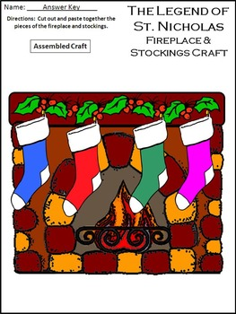 Christmas Activities: The Legend of St. Nicholas Christmas Activity Packet
