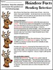 Christmas Activities: Reindeer Facts Christmas Science Activity Bundle -Color&BW