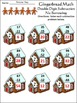 Christmas Math Activities: Gingerbread Math Drills Mini Packet - Color