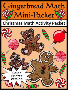 Christmas Math Activities: Gingerbread Math Christmas Math