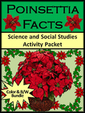 Christmas Activities: Poinsettia Facts Christmas Activity Bundle - Color&BW