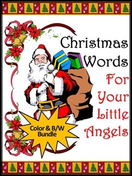 Christmas Activities: Christmas Spelling & Words Bundle - Color&BW