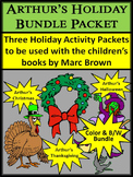 Christmas Activities: Arthur's Holiday ELA Activities Bundle - Color&BW