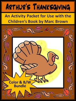 Christmas Activities: Arthur's Holiday ELA Activities Bundle - Color&BW