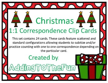Christmas 1:1 Correspondence Clip Cards