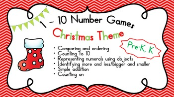 Christmas 1 - 10 Number game