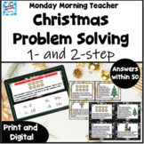 Christmas 1 & 2 step problem solving Write the Room Task C