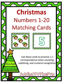Christmas 1-20 Matching Cards