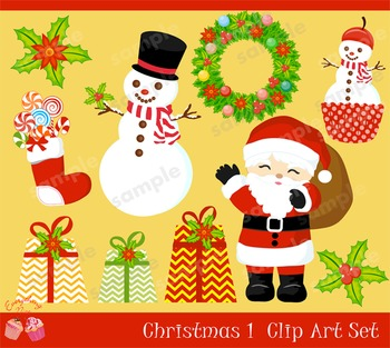 Christmas 1 Clipart Set