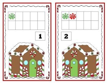Christmas 10 Frame Counting Mats Bundle Set (1-20)