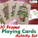 Christmas Math: 10 Frame Playing Cards & Activity Set