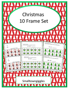 Christmas Math Activities 10 Frames Counting Addition and