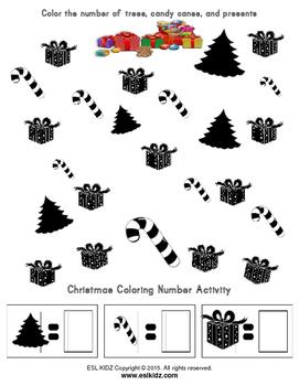 Christmas 10 Frames Counting and Math