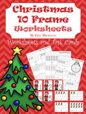 Christmas 10 Frames ~ Worksheets and Task Cards