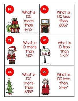 Christmas 10 More, 10 Less, 100 More, 100 Less Unit