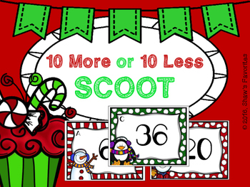 Christmas 10 More/10 Less SCOOT