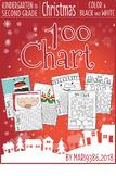 Christmas 100 Chart - MATH